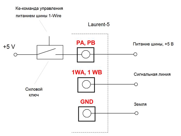 Laurent-5: Шина 1-Wire с управляемым питанием и защитой от помех и наводок на длинных линиях