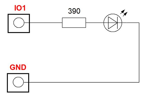 Laurent-5: GPIO линии общего назначения для управления светодиодом